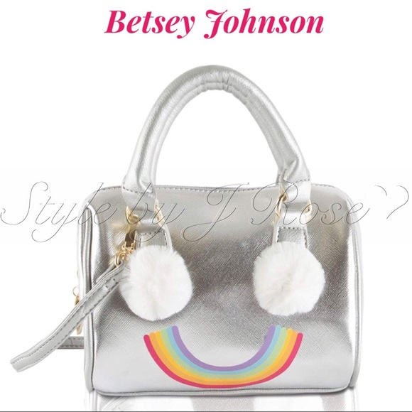 Betsey Johnson Handbags - NWT's Betsey Johnson Silver Rainbow Crossbody